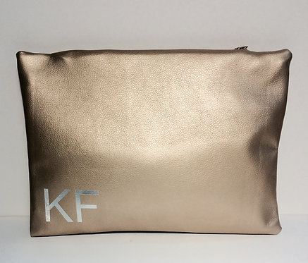 Monogram Faux Leather Clutch
