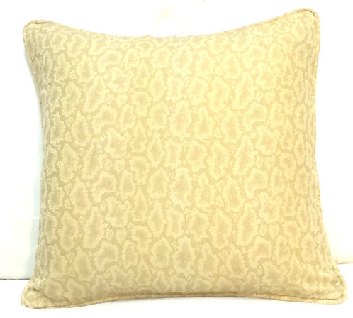 Cheetah 17x17 Pillow, Gold