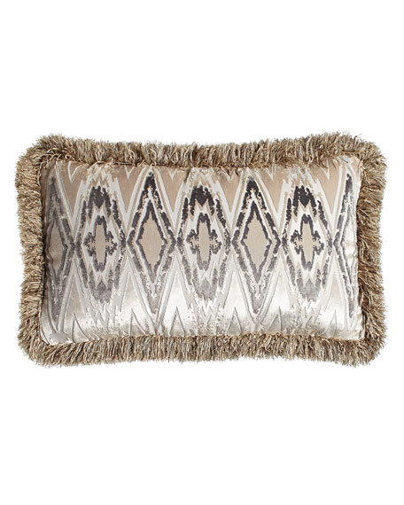 "Fringed Castile Pillow, 16"" x 24"""