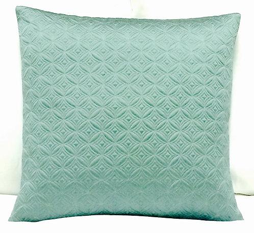 Natalie 16x16 Cotton Blended Pillow, Teal