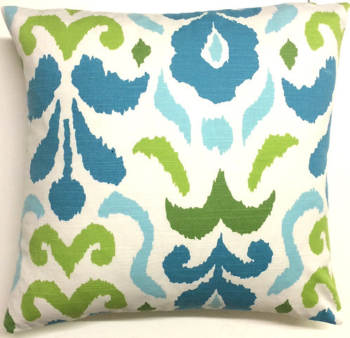 Passion 18x18 Pillow, Blue/Lime