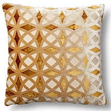 Kaleidescope 17x17 Pillow, Gold