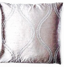 Darian 16x16 Pillow, Platinum