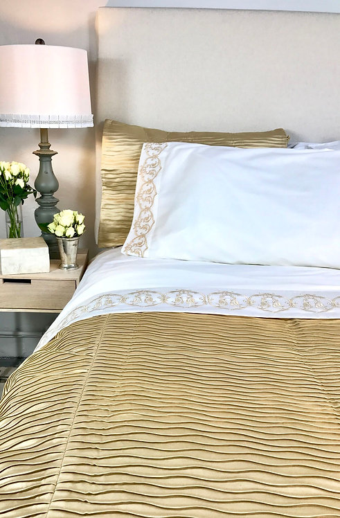 Gold Weave Coverlet