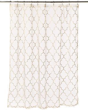 Diamond Gold Sheer Shower Curtain