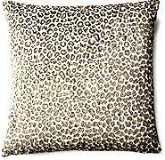Zoe Animal Print 17x17 Pillow, Gray