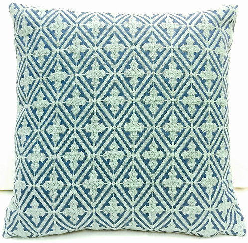 Diamond 17x17 Pillow, Indigo