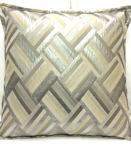 Stella 20x20 Pillow, Silver