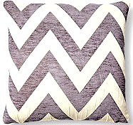 Chevron 18x18 Pillow, Gray