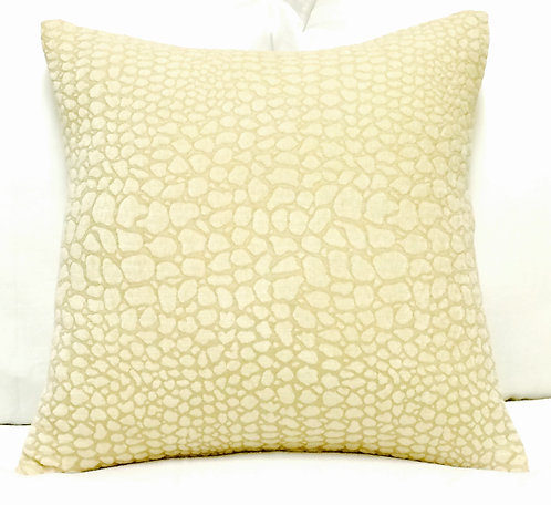 Crocodile 16x16 Pillow, Cream