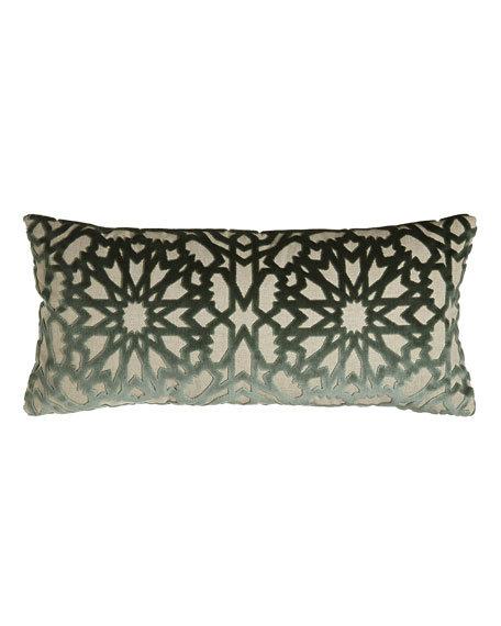 """Capiz Cut-Velvet Starburst Pillow, 41""""L x 14""""W"""