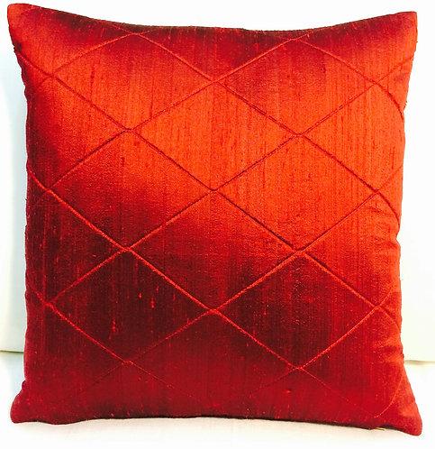 Josephine Silk 18x18 Pillow, red