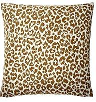 Zoe 18x18 Animal Print Pillow, Brown/Teal