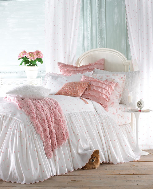Molly Duvet Set, Pink/White
