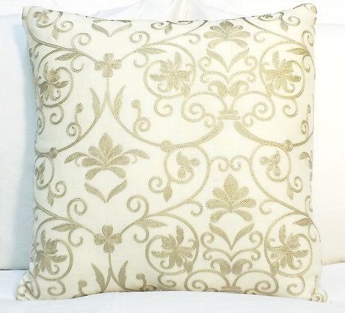 Catherine 18x18 Pillow, Beige