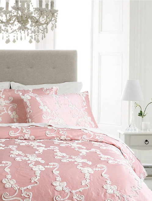 Catherine Duvet Set, Pink/White