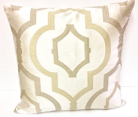 Carolina 17x17 Pillow, Silver