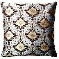Royal 18x18 Pillow, Chocolate/Blue