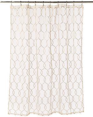 Gold Link Sheer Shower Curtain