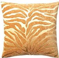 Tiger 16x16 Pillow, Tan/Gold