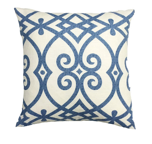 Royal 17x17 Pillow, Blue