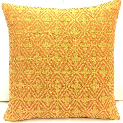 Diamond 17x17 Pillow, Orange