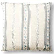 Blue Green Braid 17x17 Pillow