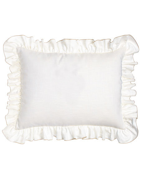 Standard Ruffled Kate Sham, white