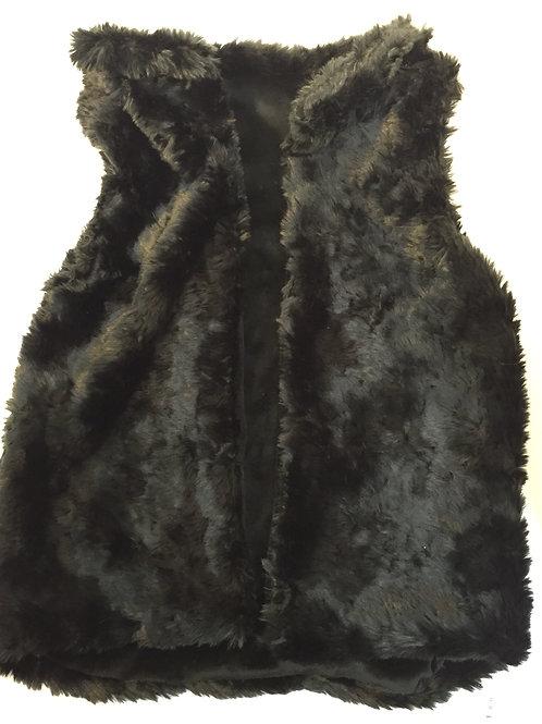Black Bear Faux Fur Vest