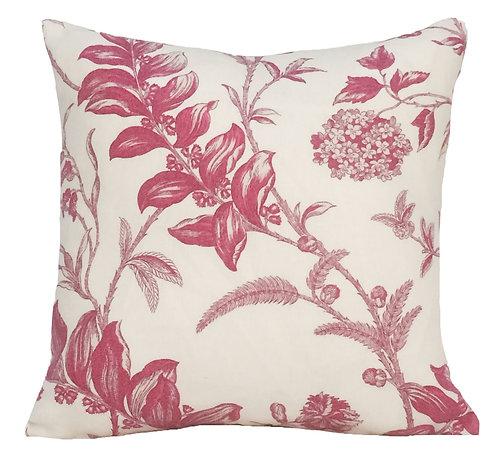 Blossom 16x16 Linen Pillow, Fuchsia