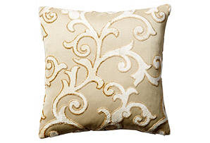 Hyde Park 17x17 Pillow, Cream