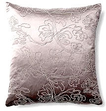Jane 18x18 Pillow, Silver