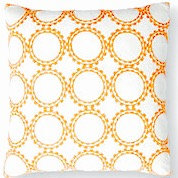 Summer 18x18 Pillow, Orange/White