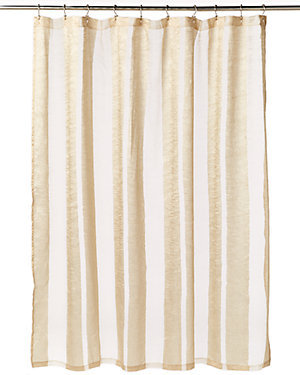 Gold Sheer Shower Curtain