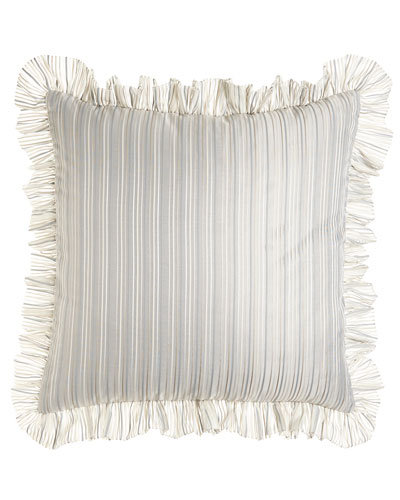 Emilia Striped Euro Sham with Ruffle