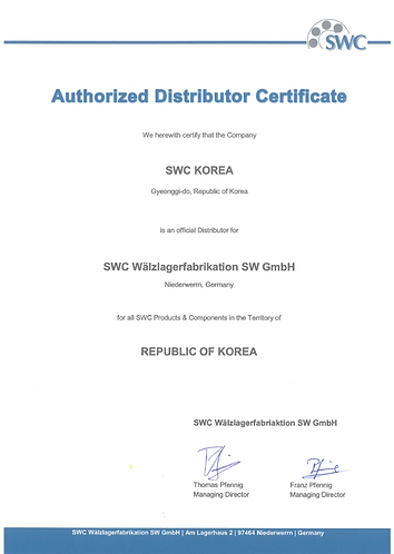 SWC Authorized Distributor Certification