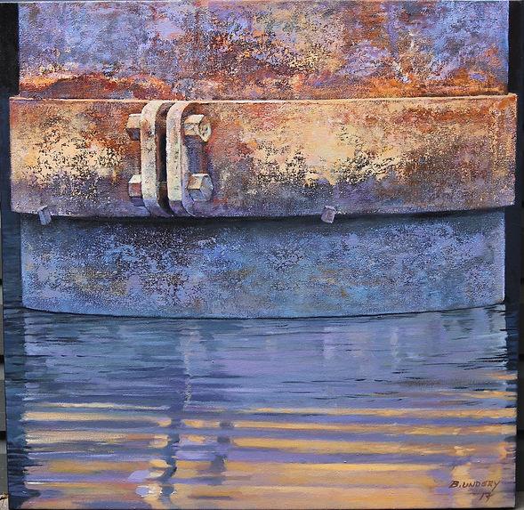 Pier. Acrylic on canvas 80cm sq.jpeg