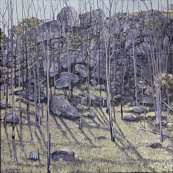 West of Tenterfield .Acrlic on canvas 90