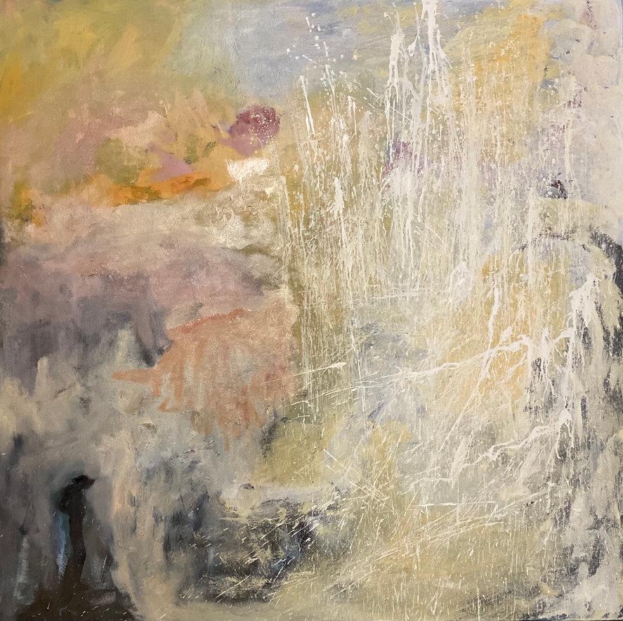 Davide Uliana 'Minyon Falls' 150 x 150cm Oil and Acrylic on Canvas.jpg