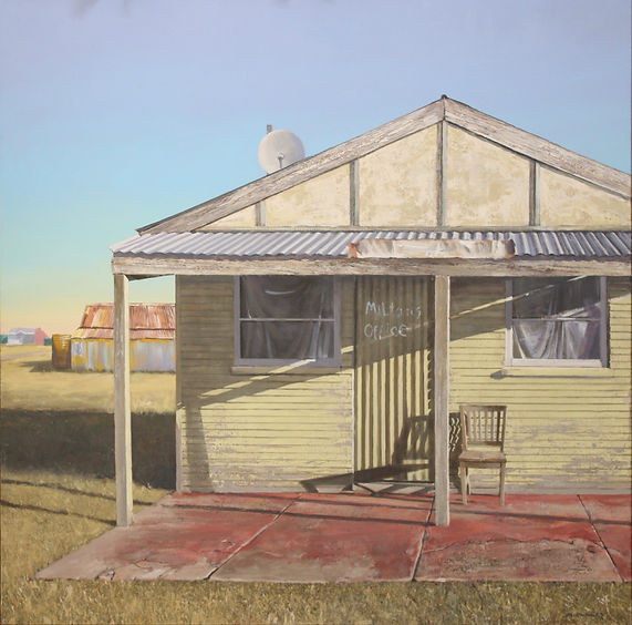 Milton's office 94 x 94 cm acrylic on ca