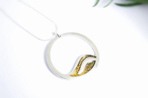 Sterling Silver Golden Fall Pendant