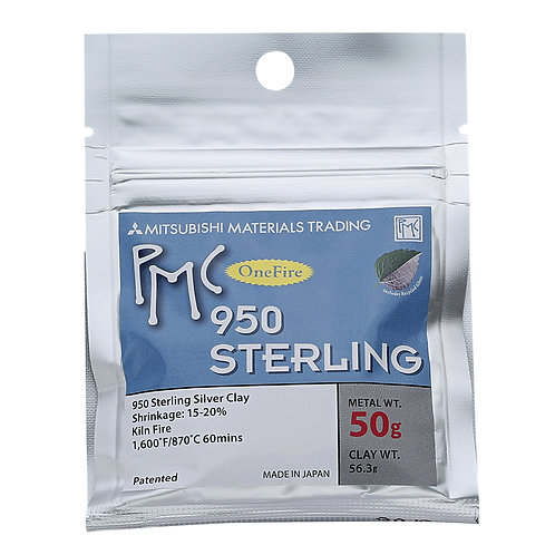 PMC 950 Sterling Silver Precious Metal Clay 50g UK