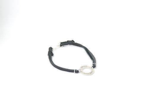 Personalised Sterling Silver & Suede Bracelet