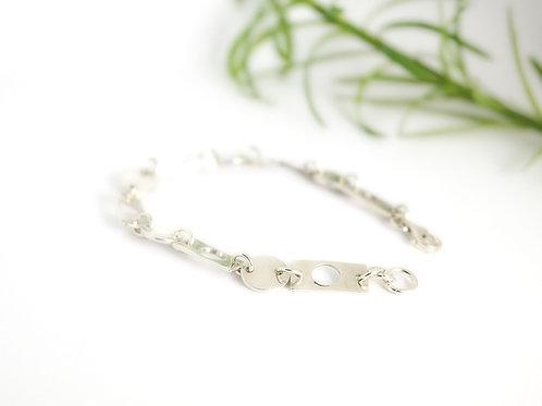 925 Sterling Silver Geometric Bracelet