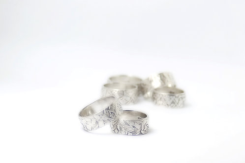 Handcrafted Sterling Silver Shard Ring