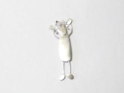 Recycled Sterling Silver Bad Hair Day Brooch