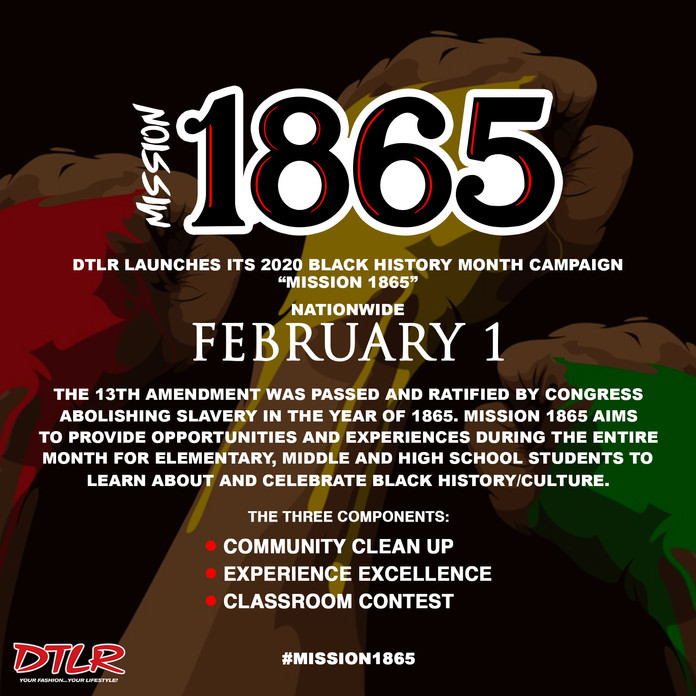 Mission 1865: Black History Month Campaign