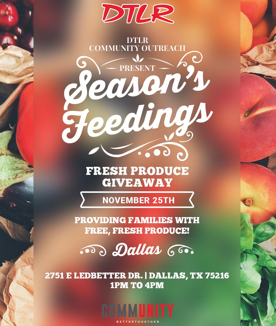 Food Drive Flyer - IG Post - Dallas