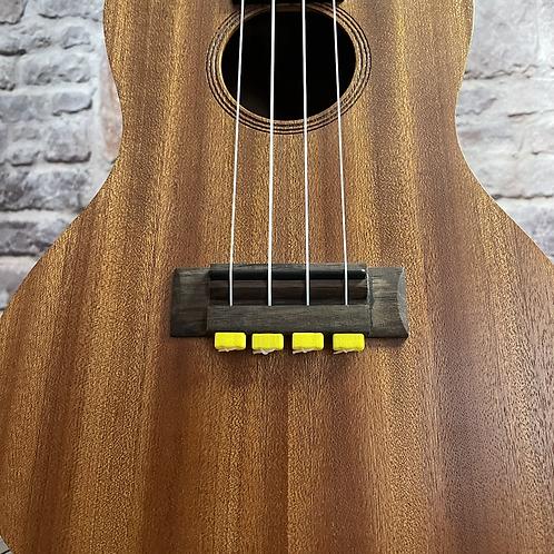 Yellow Ukulele Strings Beads Guitar String Tie for Nylon Strings Ukuleles