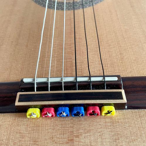 Classical Flamenco Acoustic Nylon Guitar Bridge Beads String Tie - Mix & Match